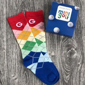 "Colorful ""G"" google golf socks youth large"